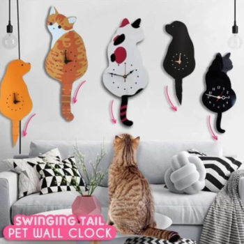 Cat-Dog-Wall-Clock-with-Moving-Tail