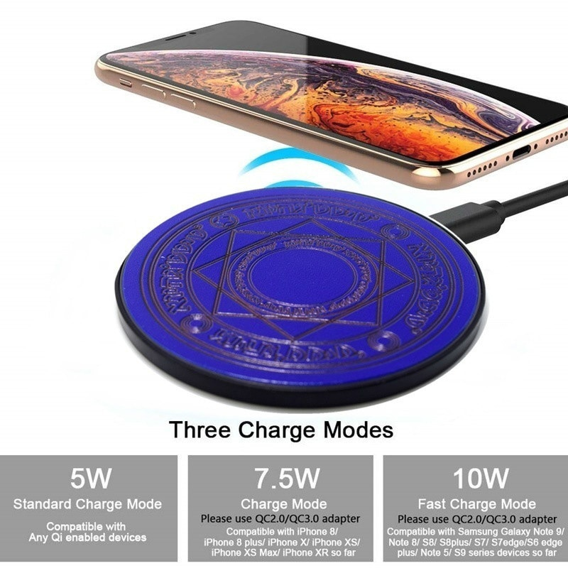 Universal 10W Wireless Charger Magic Circle for Iphone Samsung Xiaomi Wireless Mobile Phone Charger Fast Usb Pad Charging Dock