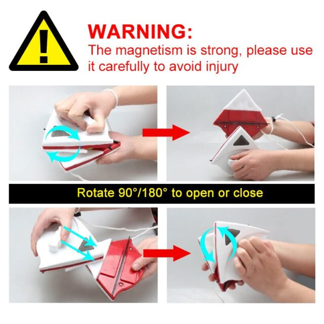 Double Sided Magnetic Washing Window Cleaner